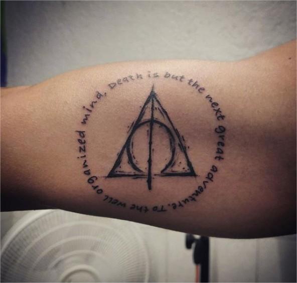 14 Hermosos Tatuajes De Frases De Harry Potter Vas A Querer Uno