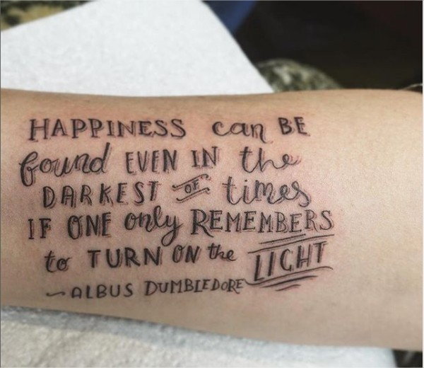 14 Hermosos Tatuajes De Frases De Harry Potter Vas A
